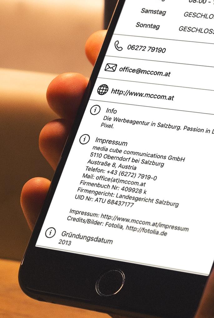 Social Media Impressumspflicht Smartphone