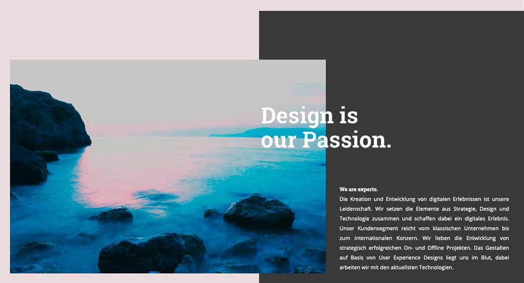 Webdesign Trends 2019, Broken Grid